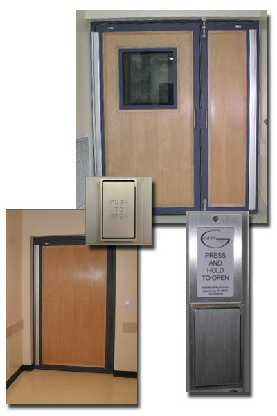 The door leaf or leafs can be finished with any commercially available wood veneer species or plastic laminate and can be fitted with a borrowed light.  sc 1 st  Gaven Industries & Gaven Industries RF Shielded Doors